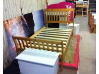 4ft Parma Bed frame, Solid Pine frame, Antique Pine Finish, Excellent condition