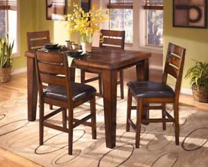 Gorgeous NEW 'Larchmont' Dining Set.  Counter Height Extension Table.  Compare our Prices!