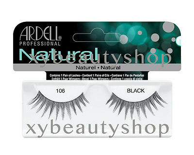 40 Pairs Ardell Natural 106 Fashion Lash Fake Eyelashes Black
