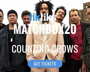 Matchbox 20 & Counting Crows Concert Tickets Live at Rogers Place on July 10th!
