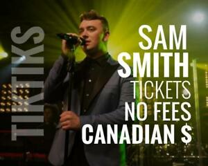 Sam Smith Tickets! Sept 12th We're like Ticketmaster/StubHub but no fees, CA$, cheaper, five star CDN company