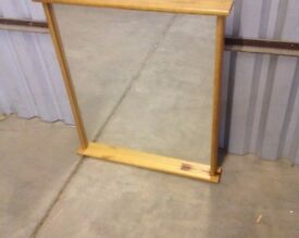 Large Mirrors, Good Quality, All Pine Wood Frame, no cracks. New, old stock. Local delivery possible