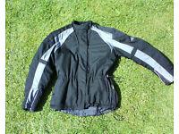 Ladies Hein Gericke motorcycle jacket, size 14, all season, biker, non leather.