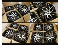 """HT328* NEW 19"""" INCH ALLOY WHEELS ALLOYS BLACK FLOW FORMED FORD FOCUS MONDEO TRANSIT CONNECT BBS STYL"""