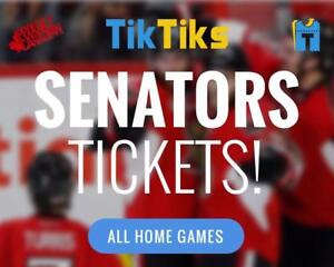 Ottawa Senators tickets. All home games at the CTC. Pay NO FEES, CAD$, INSTANTLY and SECURELY.