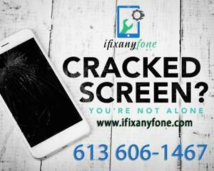 613 606-1467 Cracked Broken iPhone iPad Screen Repair - iPhone 5 5C 5S SE 6 6+ 6S 6S plus 7 -7 Plus - 6 Months Warranty