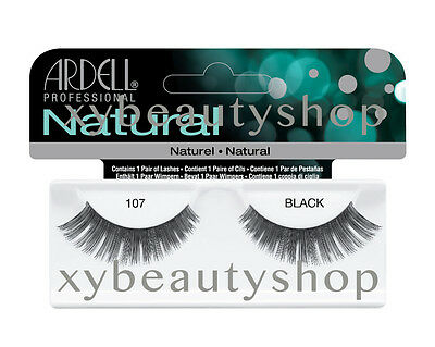 40 Pairs Ardell Natural 107 Fashion Lash Fake Eyelashes Black