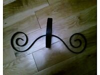 BRAND NEW WITH TAGS Wrought Iron Hand Forged Wall Mounted Plant Holder