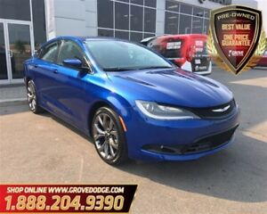 2016 Chrysler 200 S| Leather| Low KM| Sunroof| FWD| Back up Came