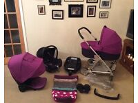 £250 or offers Mamas and Papas urbo Travel System Pram pushchair car seat base carry cot cosy toes