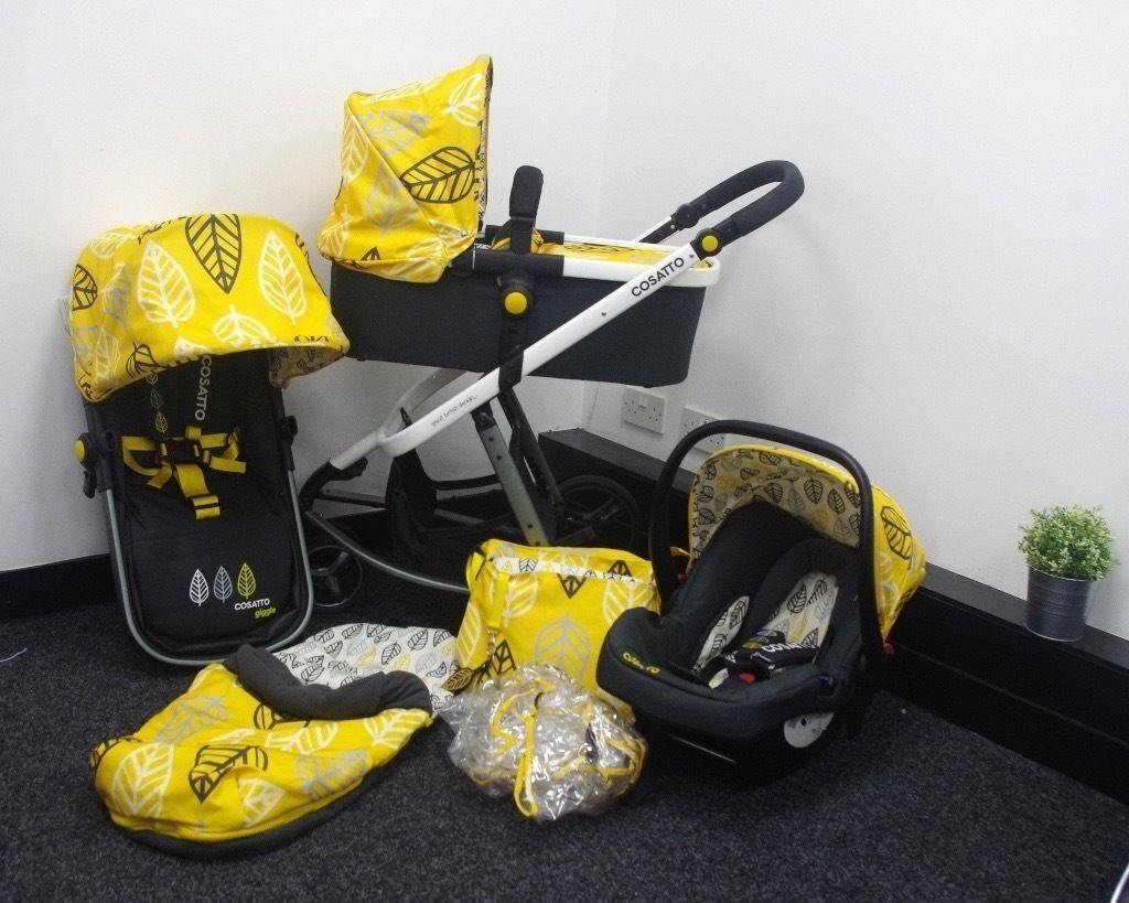 Yellow Cosatto Travel System