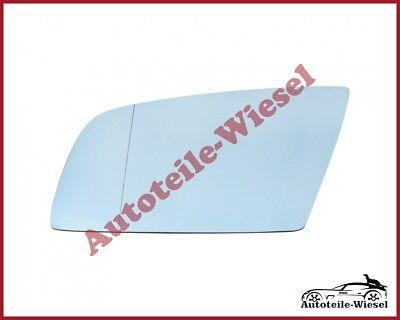 Spiegelglas Rechts Asph Blau Heizb für BMW 5er E60 E61 6er E63