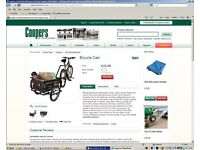 Cart for use in garden, Pully for Festivals can attached to Bicycle, never used