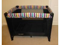 O Baby travel cot with bassinette