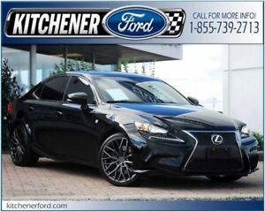 2014 Lexus IS 350 F SPORT/AWD/LEATHER/HTD SEATS/PWR GROUP