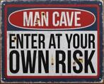 Man Cave decoratie reclameborden verlichting bar mancave