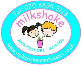 NVQL3/Early Years Practitioner required for Milkshake Montessori Nursery School