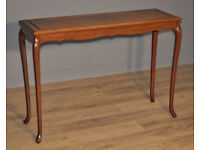 Attractive Tall Shallow Vintage Oriental Hardwood Hall Console Side Table