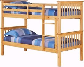 ==LIMITED STOCK ORDER NOW SPECIAL STYLISH WOODEN PINE BUNK BED BRAND NEW SAME DAY EXPRESS DELIVERY