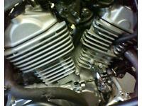 Transalp 600 engine rebuild project. Many new parts. XL600V V-twin.