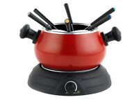 Party Time Red Black Chocolate Fondue Set - BRAND NEW