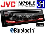JVC Bluetooth Autoradio USB AUX CD speler iPhone Android NEW