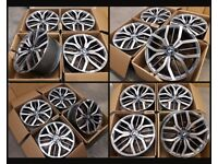 """HT811* NEW 20"""" INCH ALLOYS BMW 5 SERIES 6 F10 E60 X3 7 F01 F07 ALLOY WHEELS M SPORT PERFORMANCE"""