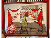 Bells Old Scotch Whiskey (vintage) Bar Mirror