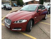 JAGUAR XF 2.2 D PREMIUM LUXURY 4d AUTO 190 BHP (red) 2012