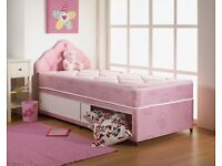 Brand New 3FT Single Pink Slide Storage Bed Set (Base & Mattress) With Fast Delivery...