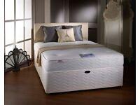 4ft6 Double Divan Bed+Luxury Orthopaedic Medium Firm 10 inch Mattress =Headboard Drawers Optional=