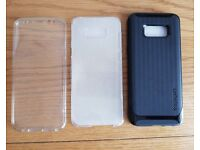 Spigen Galaxy S8+ Case New + A Clear 100% cover F&B case for free