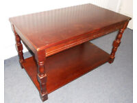 Wooden Coffee Table with Shelf - Ideal to Paint