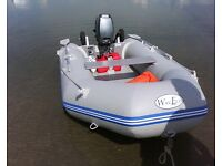 inflatable boat and outboard