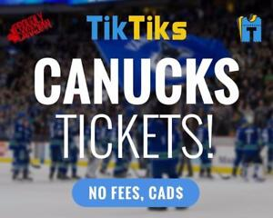 Vancouver Canucks tickets. All home games at the Rogers Arena. Pay NO FEES, CAD$, INSTANTLY and SECURELY.