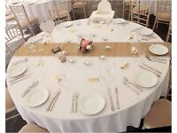Hessian 2.5m / 8ft table runners for wedding, event