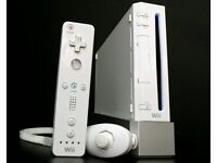 NINTENDO WII WITH CONTROLLER/CABLE