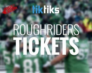 Saskatchewan Roughriders tickets. All home games. Buy CFL Tickets from Canadians in CAD$