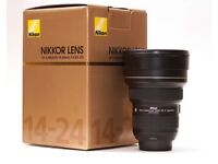 Nikon 14-24mm f2.8 zoom lens AF-S Nikkor 14-24mm f/2.8G ED