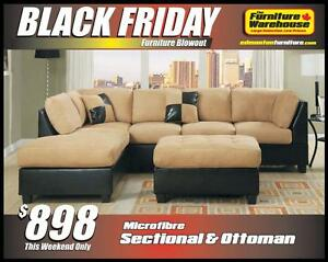 BLACK FRIDAY Microfiber Sectional Only $988-Limited Quantity Available