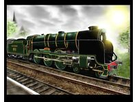 Large, A3 Size Poster of vintage Southern Railways Steam-Train. 1930s