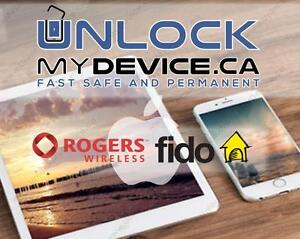 *** UNLOCK *** APPLE IPHONE ROGERS / FIDO *** WORKING ***