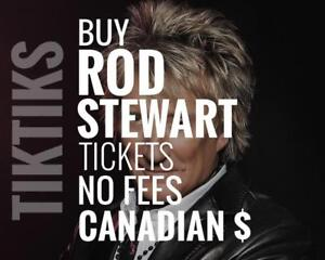 Rod Stewart Concert Tickets. Way cheaper than StubHub/Ticketmaster. No fees, CAD$, 5% off for new customers!