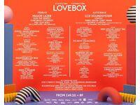 LOVEBOX FESTIVAL WEEKEND WRISTBANDS **CHEAP**