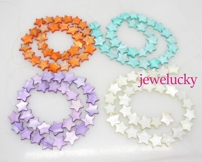 15mm Star shell mother of pearl loose beads 15