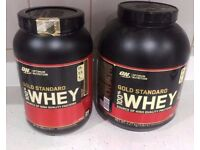 OPTIMUM NUTRITION GOLD STANDARD WHEY PROTEIN 2 TUBS