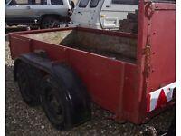 Bradley heavy duty twin wheeled trailer 4.6 x 9 ft