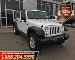 2012 Jeep WRANGLER UNLIMITED Sport| 4X4| Cloth| CD Player| One W