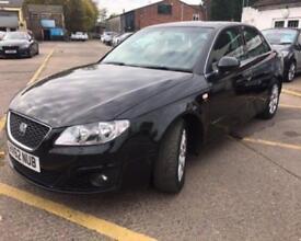 SEAT EXEO 2.0 TDI CR ECOMOTIVE SE TECH 4d 141 BHP (black) 2012