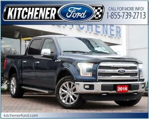 2016 Ford F-150 CPO/4WD/LTHR/TOW PKG/CAMERA/NAVI AND MORE!